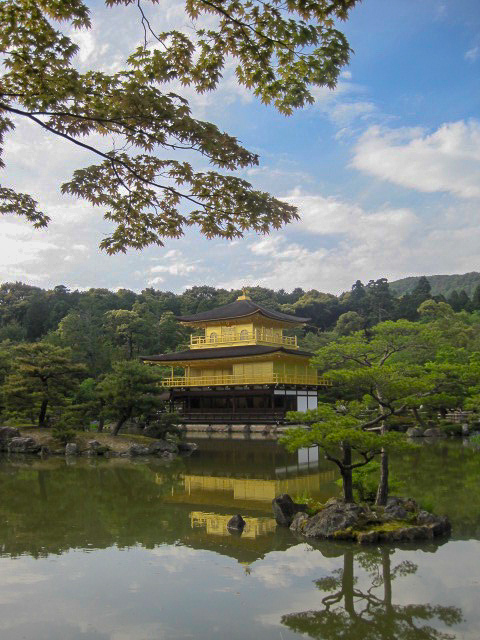 Kinkakuji Temple water reflection