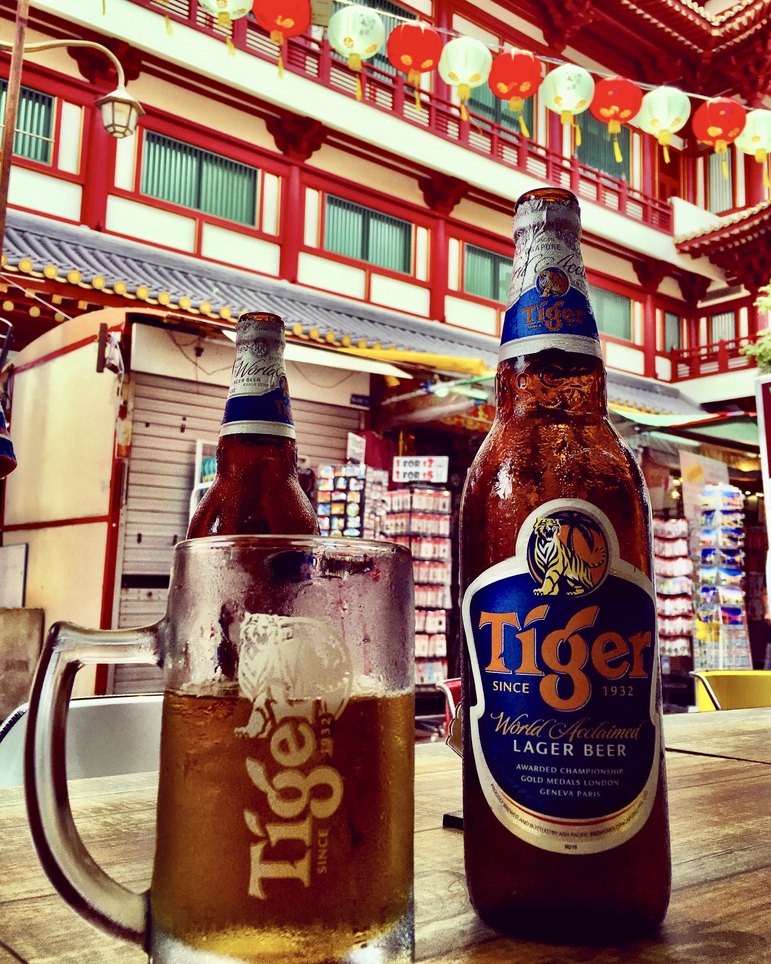 Tiger beers Chinatown