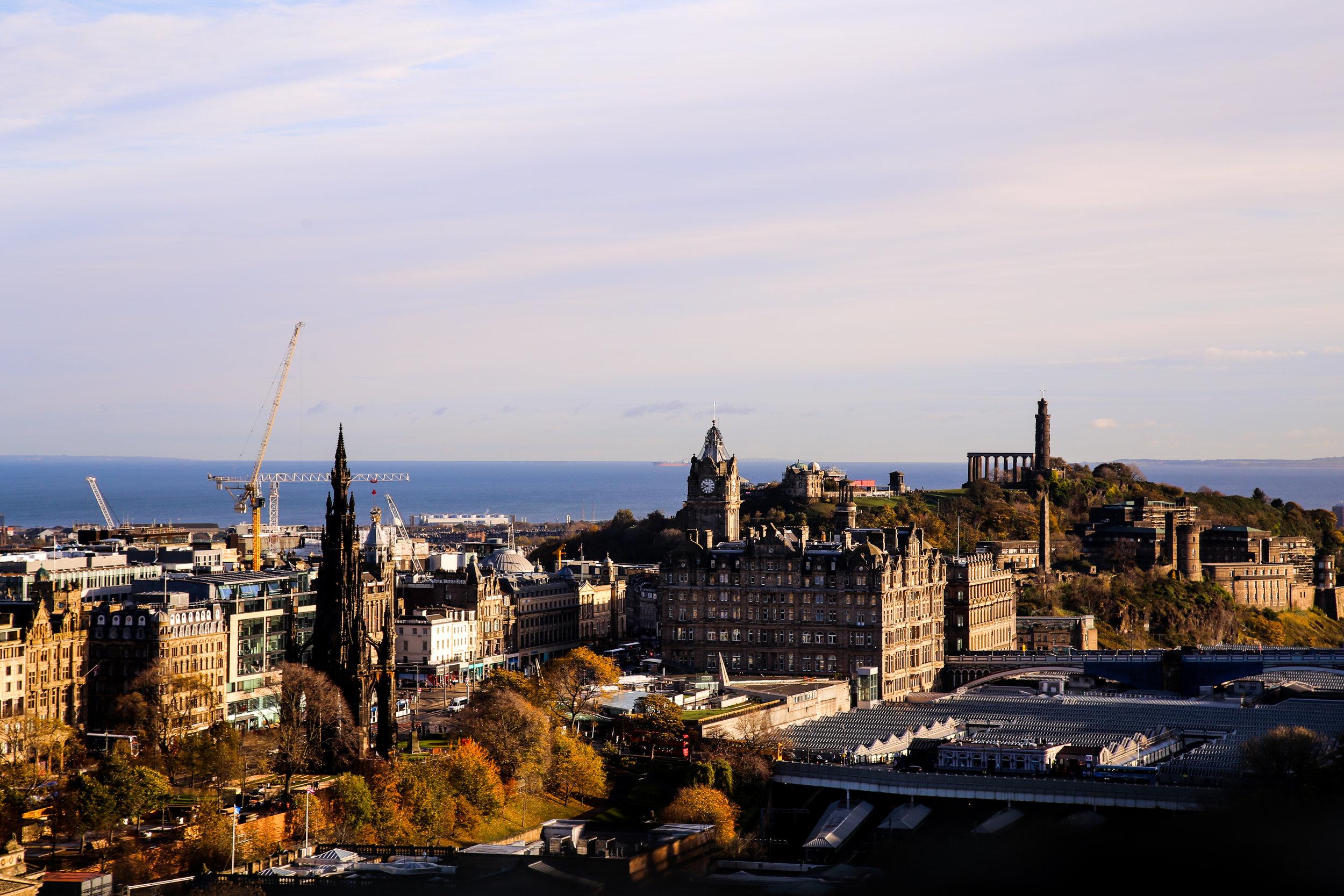 View of Edinburgh overlooking coast