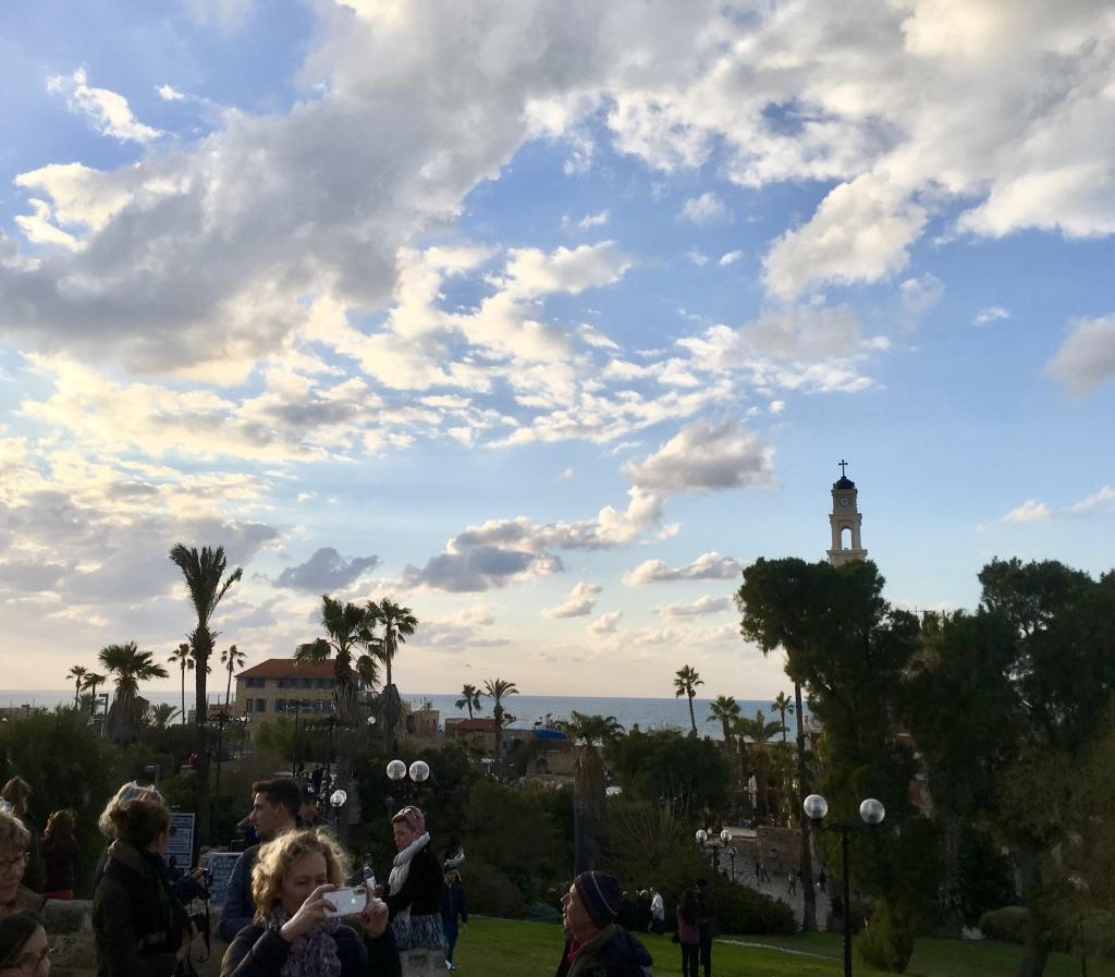 Old City Jaffa blue sky clouds