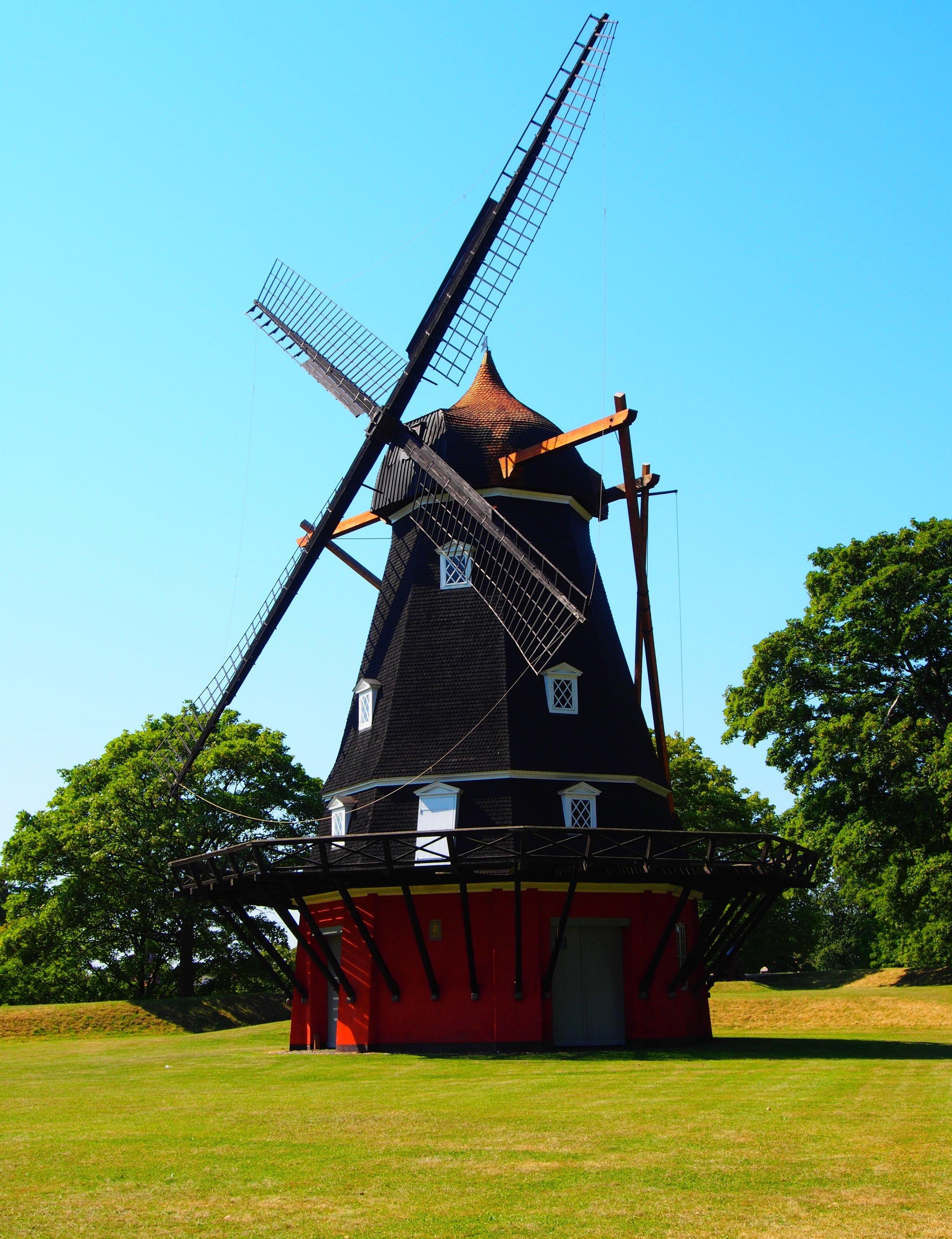 Kastellet Fort windmill in Copenhagen