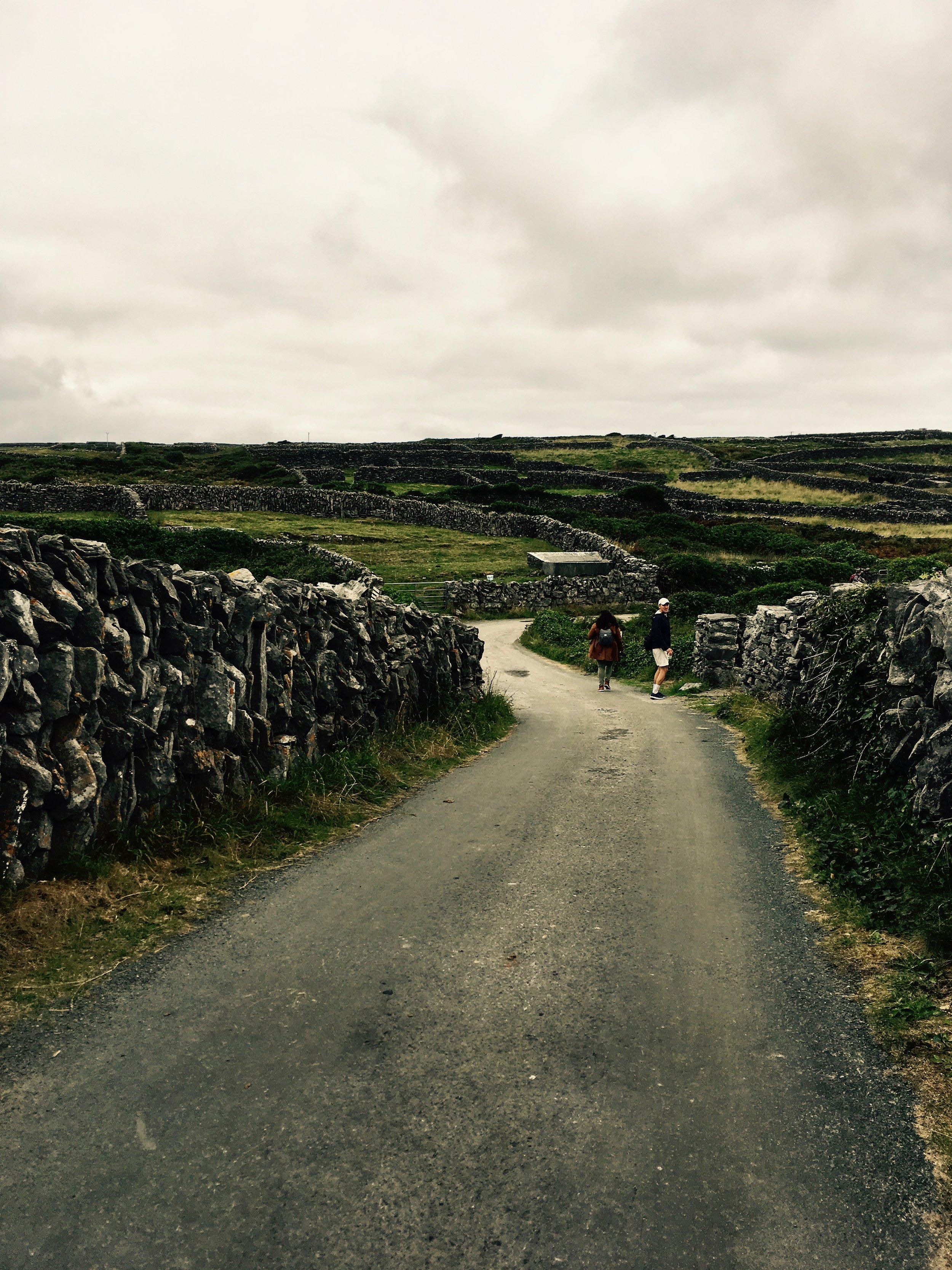 Aran Islands ancient stone walls