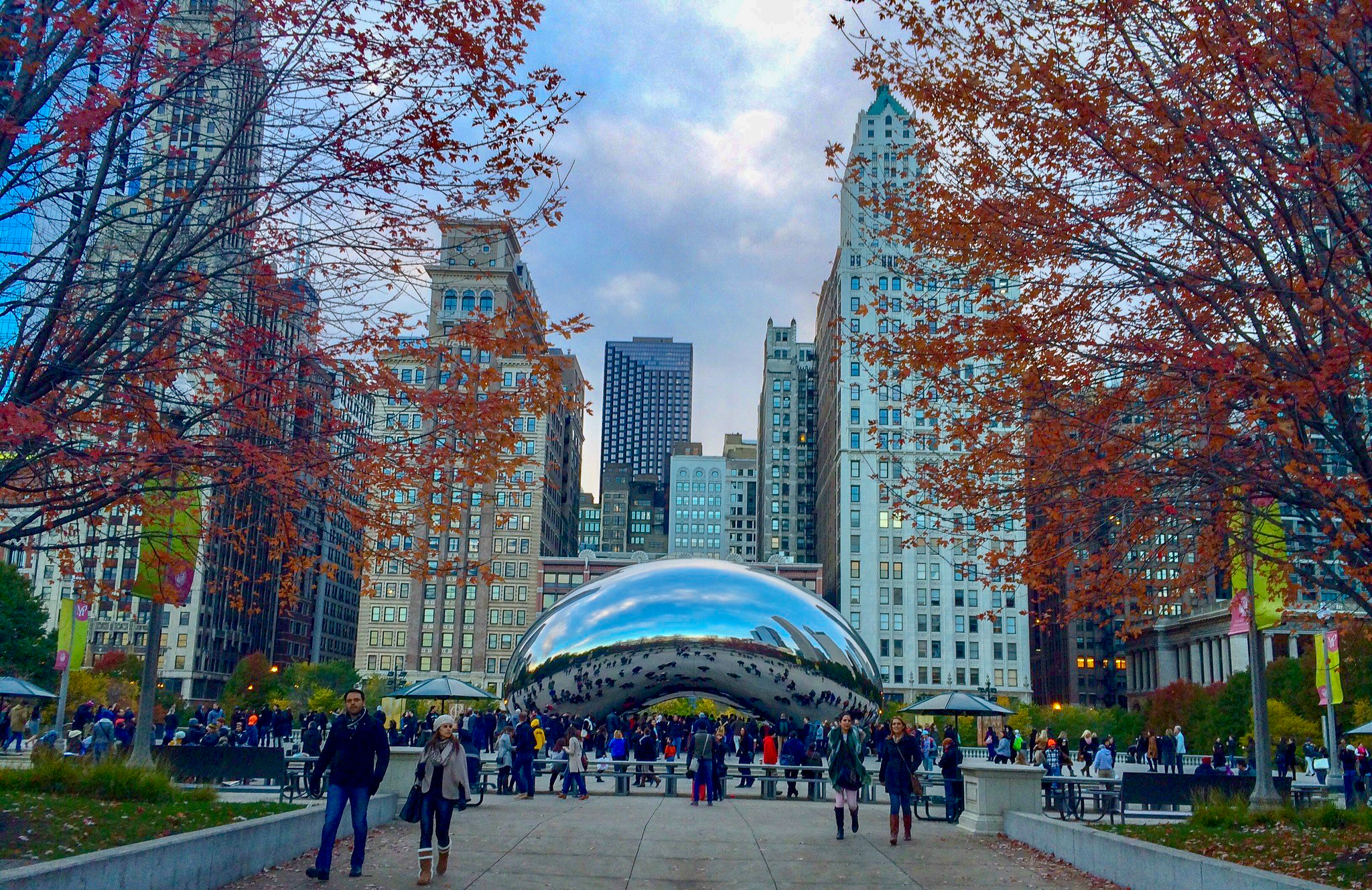 The Bean in autumn Chicago