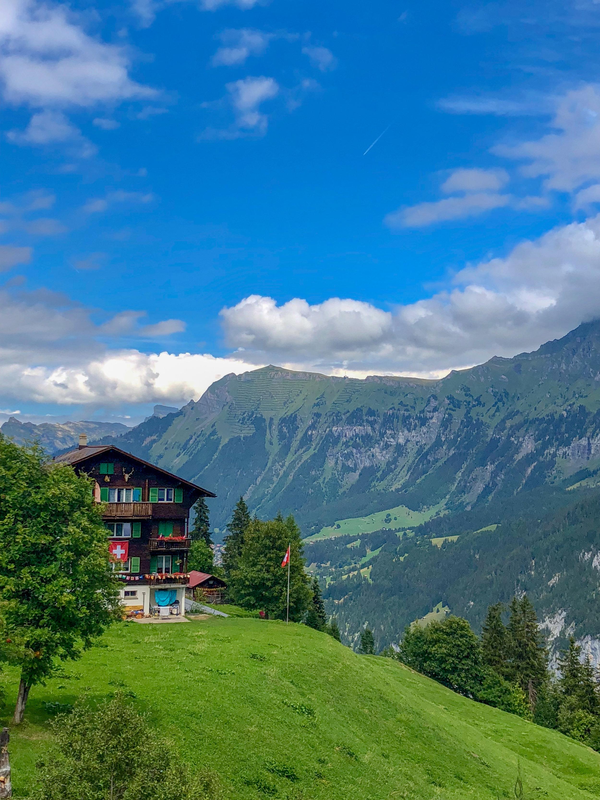 Alpine views in Switzerland