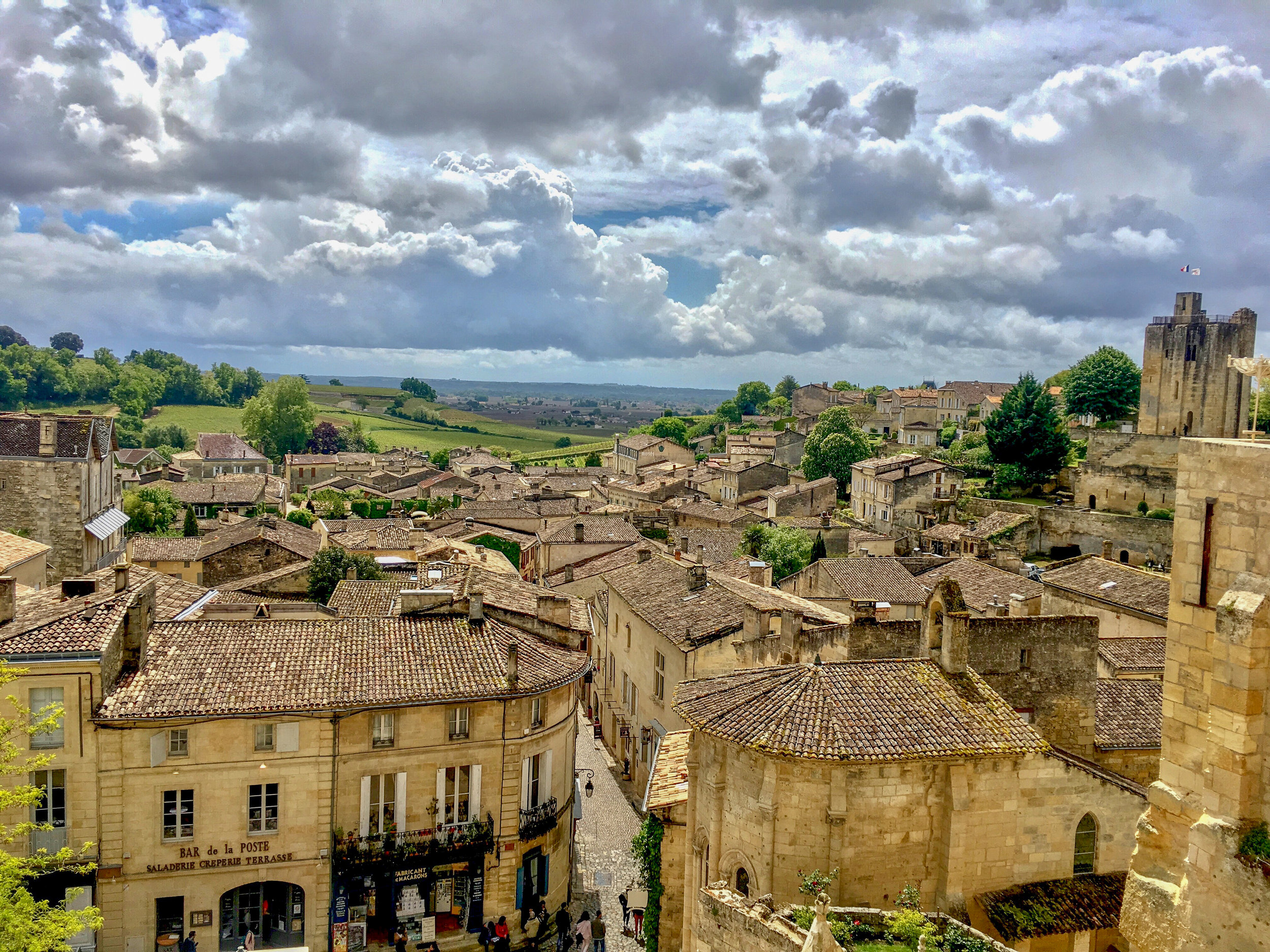 Medieval French town and countryside
