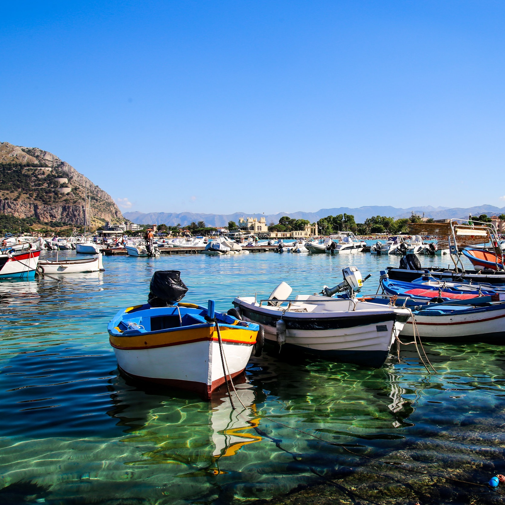 Sicilian harbor and boats