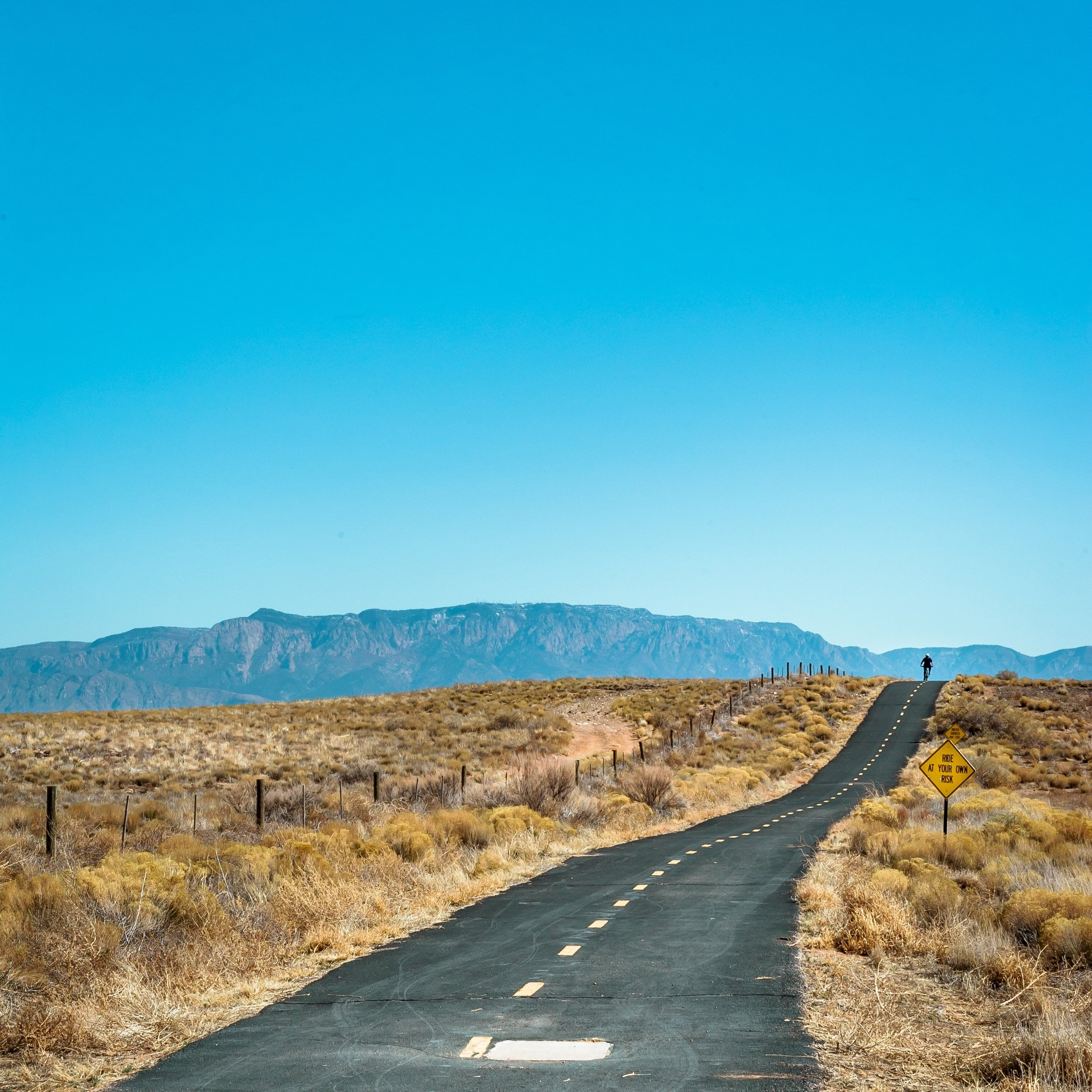 American Southwest lone road