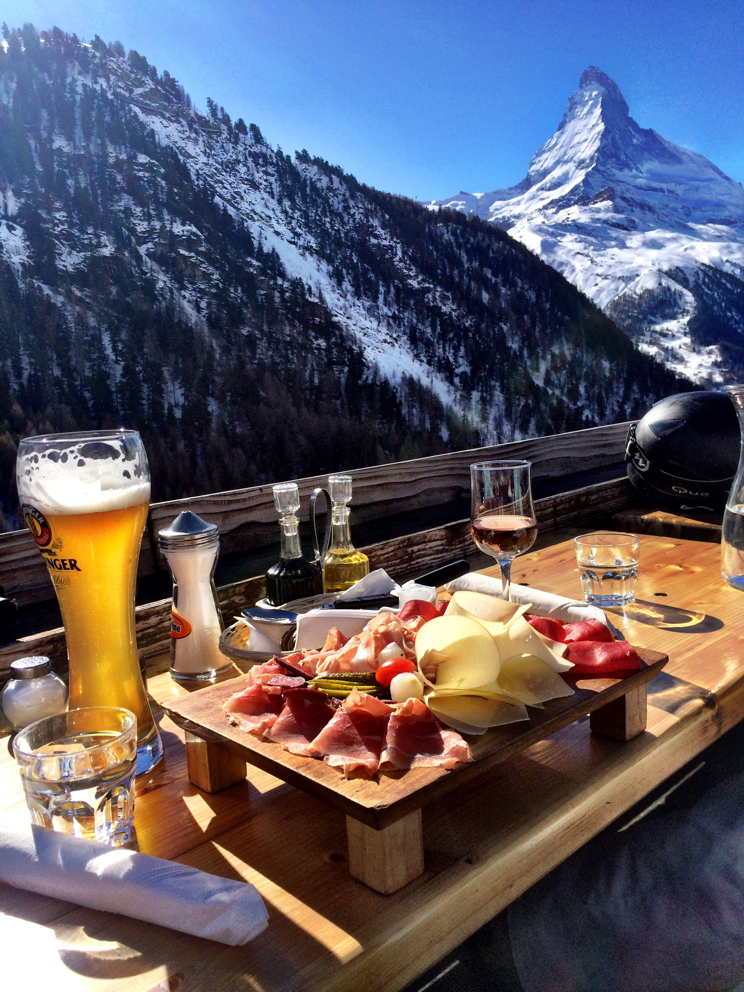 Alpine lunch overlooking Matterhorn