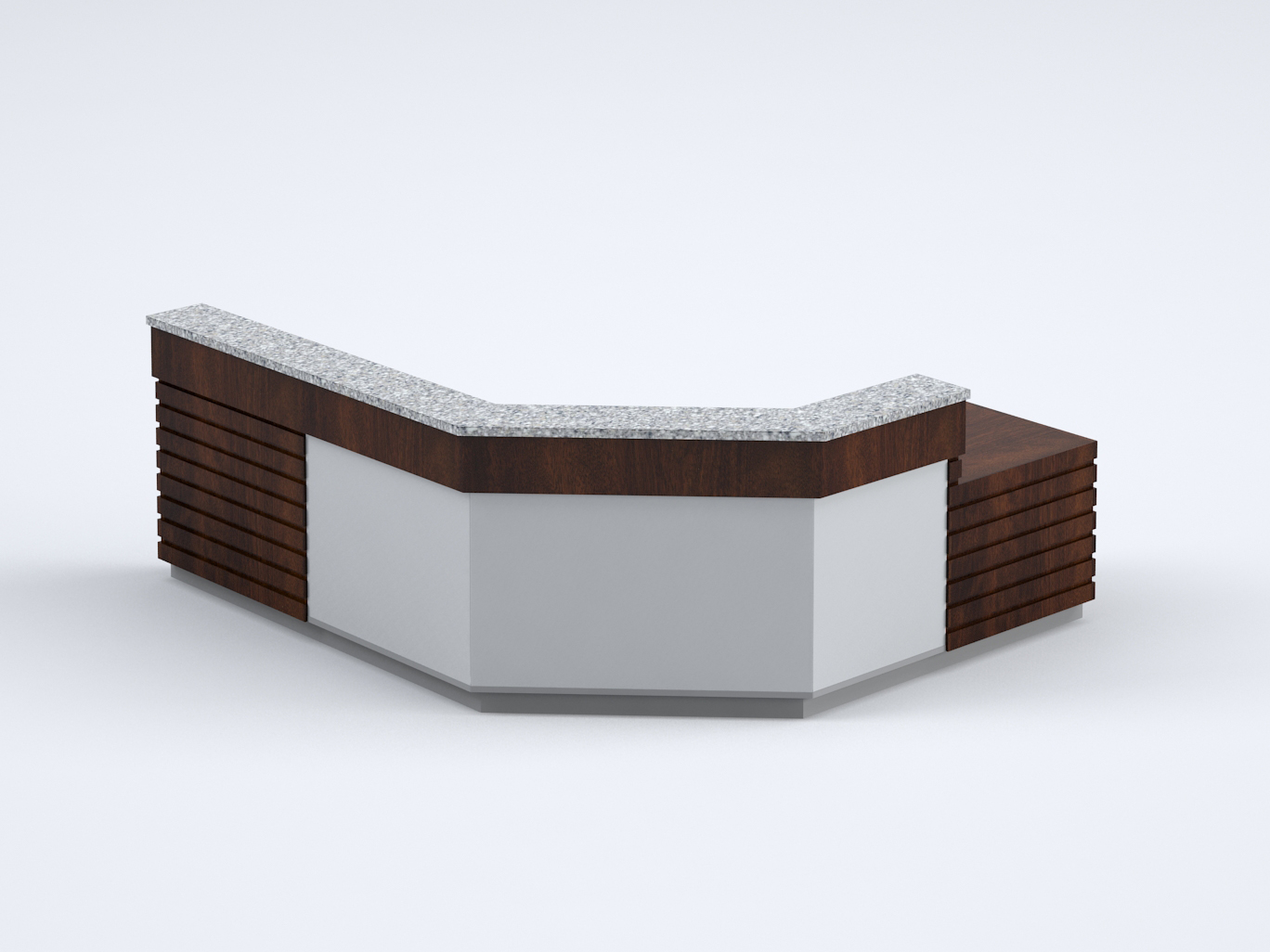 Reception Desks - Create a welcoming experience with our custom reception desks. An array of durable finishes give you options for expressing a brand. And, with seamless integration of power and data, working at one of our desks is as easy as sitting down and powering up.You're Welcome →