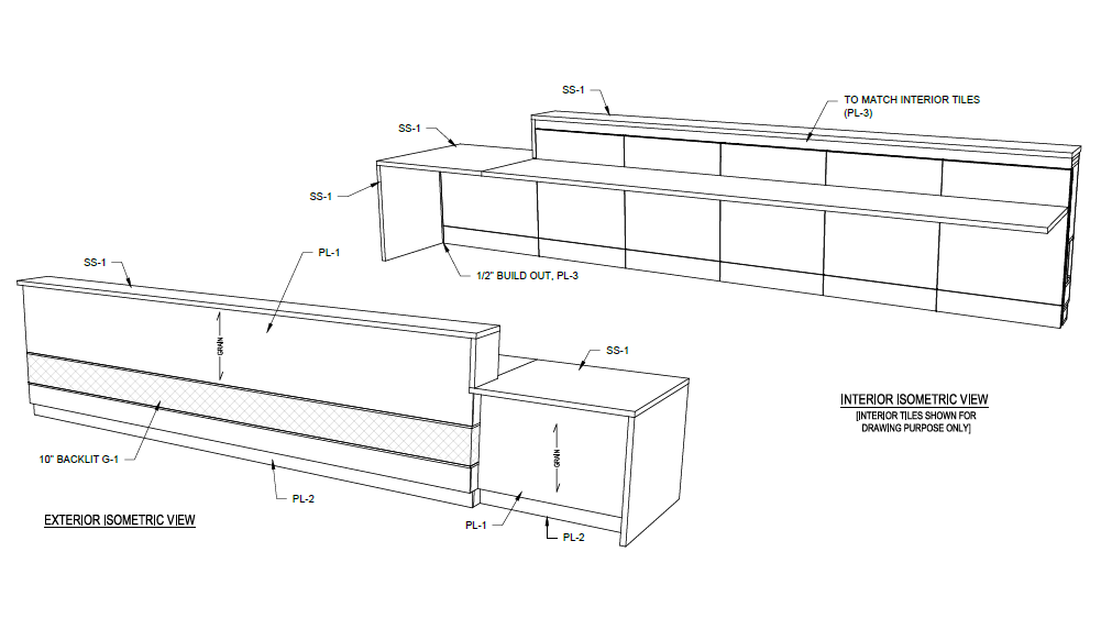 StudioCraft creates technical shop drawings for client approval.