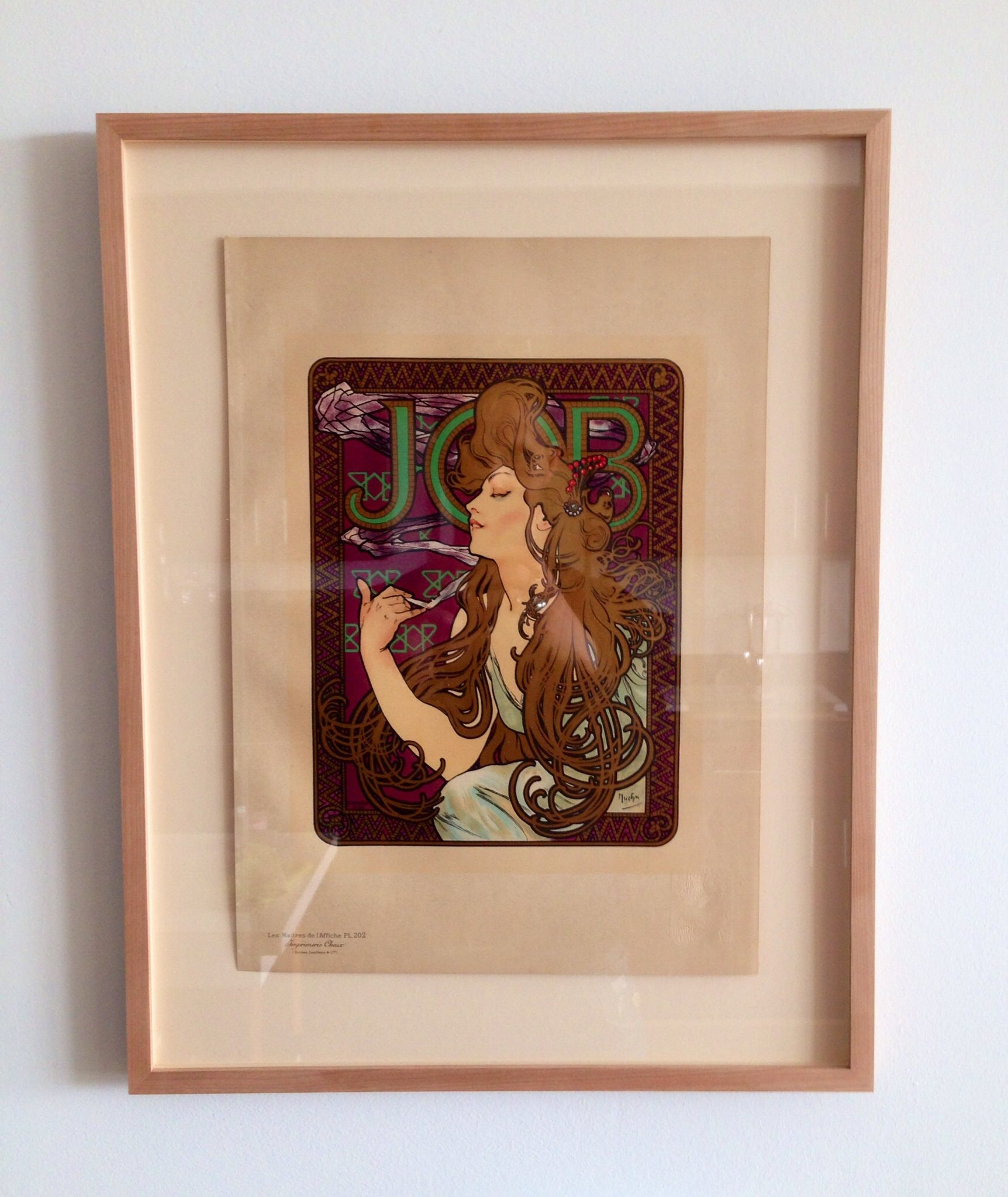 Alphonse Mucha lithograph from 1900