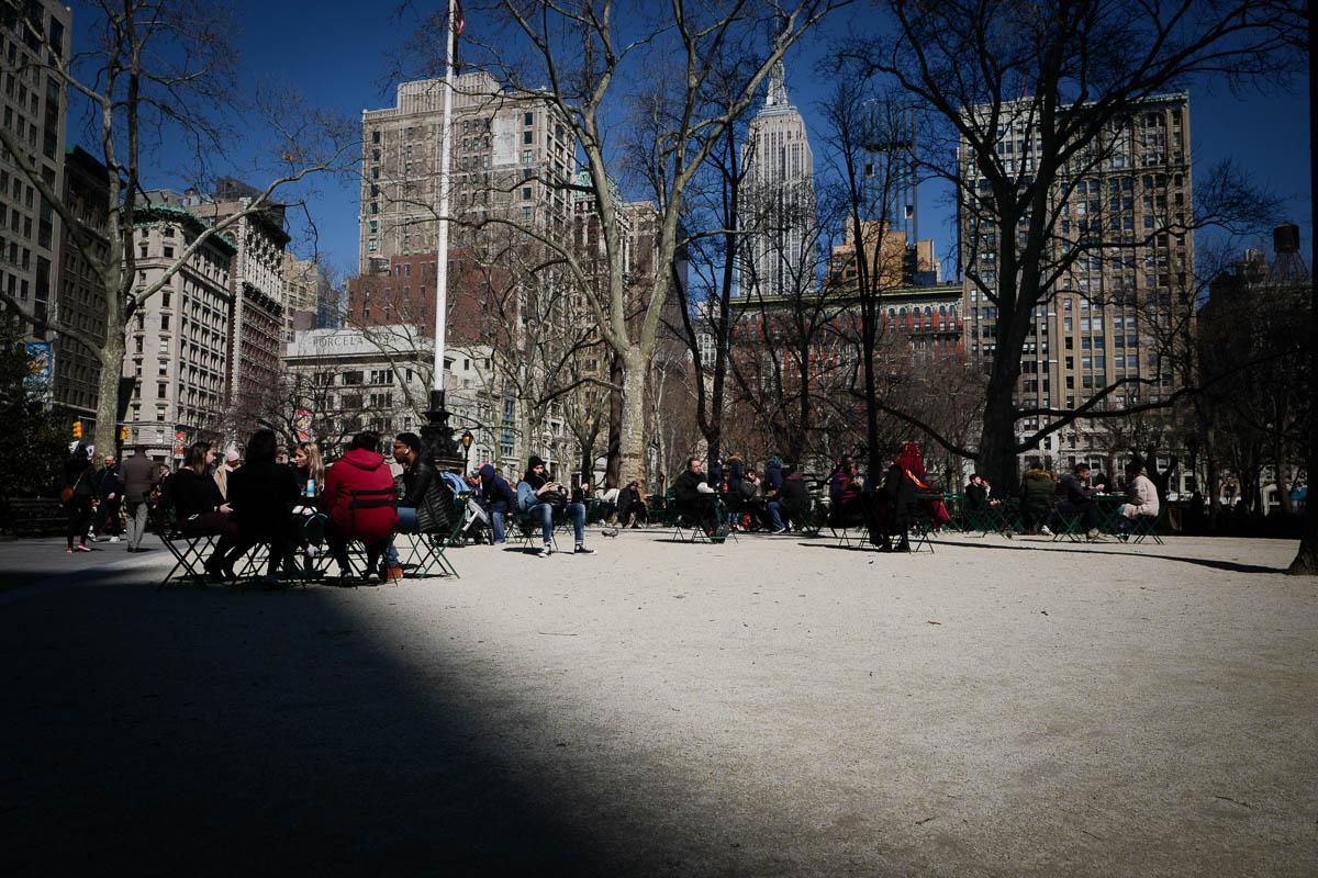 Madison Square Park. Near Flatiron Building, NYC.