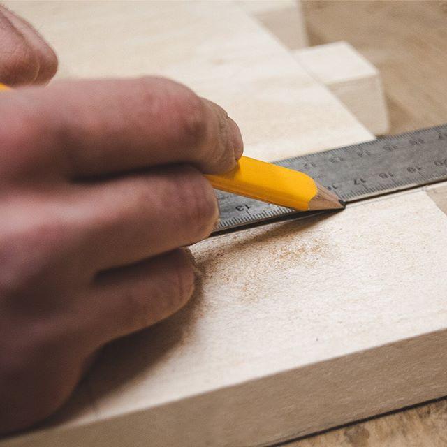 Measure twice, cut once 📏 • • • #woodworking #measuring #pencil #precise