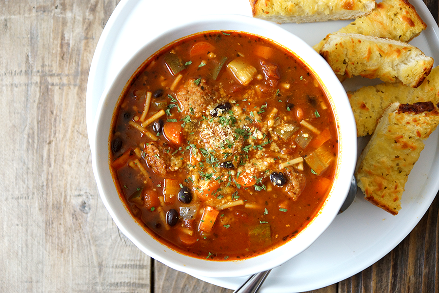 The Belly Good Life - Italian Meatball Soup