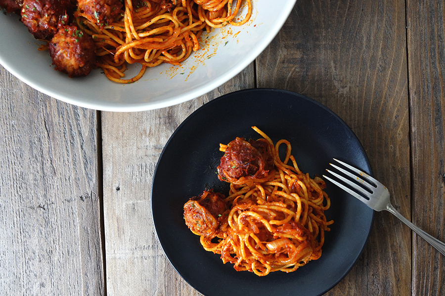 The Belly Good Life - Frugal and Fabulous Meatball Spaghetti