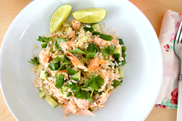 The Belly Good Life - Zesty Salmon and Wild Rice Salad