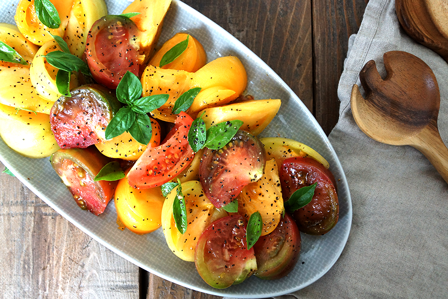 The Belly Good Life - Heirloom Tomato Salad