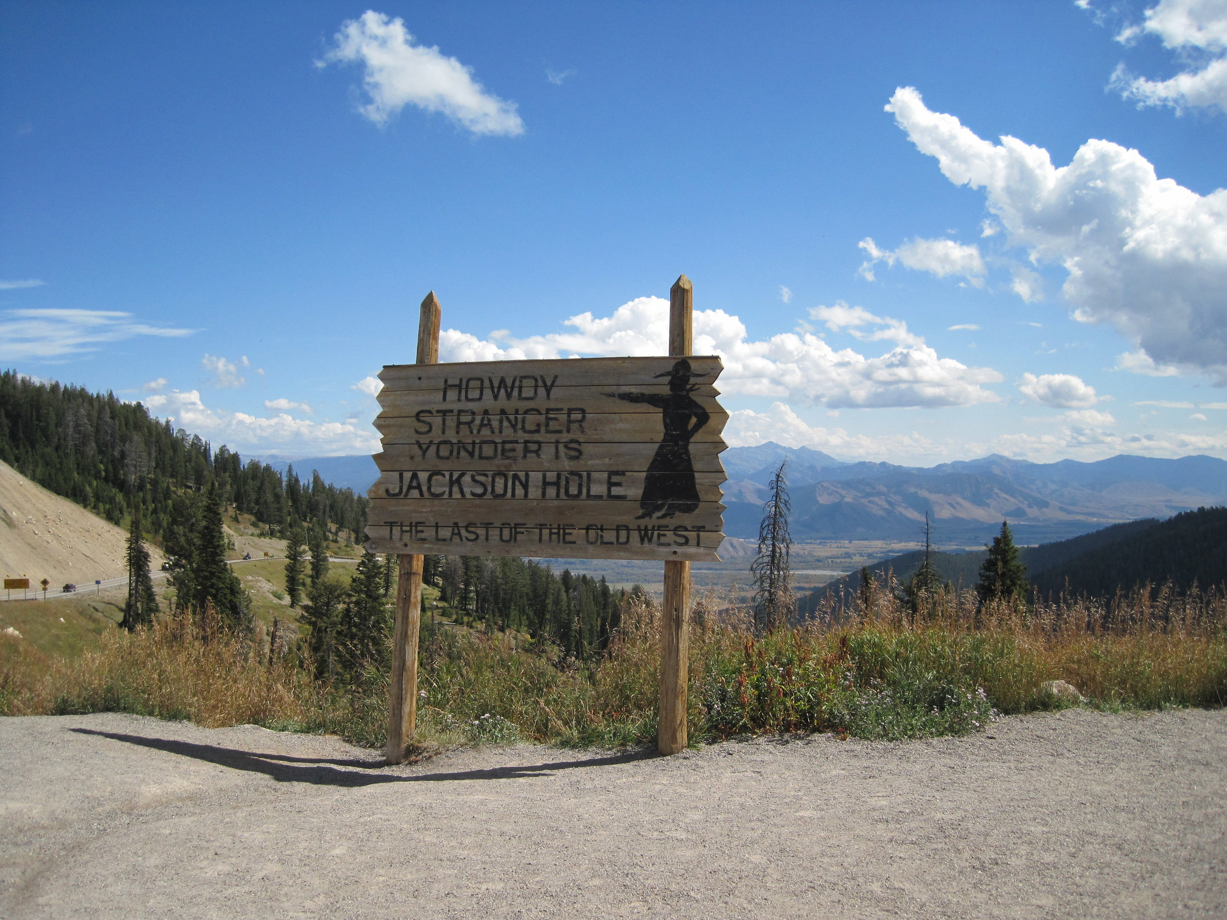 Top of Teton Pass - View of Teton Valley Wyoming, 2010 | © Candace Woodbury