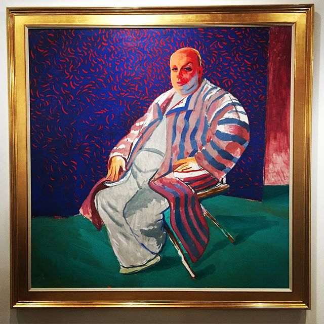 That was a hell of a trip. I feel #divine #davidhockney at the #leslielohmanmuseum NYC #bringing me back down to Earth today.