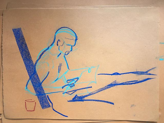 A little life drawing thanks  to @_twgordon_  and @naked_boys_reading