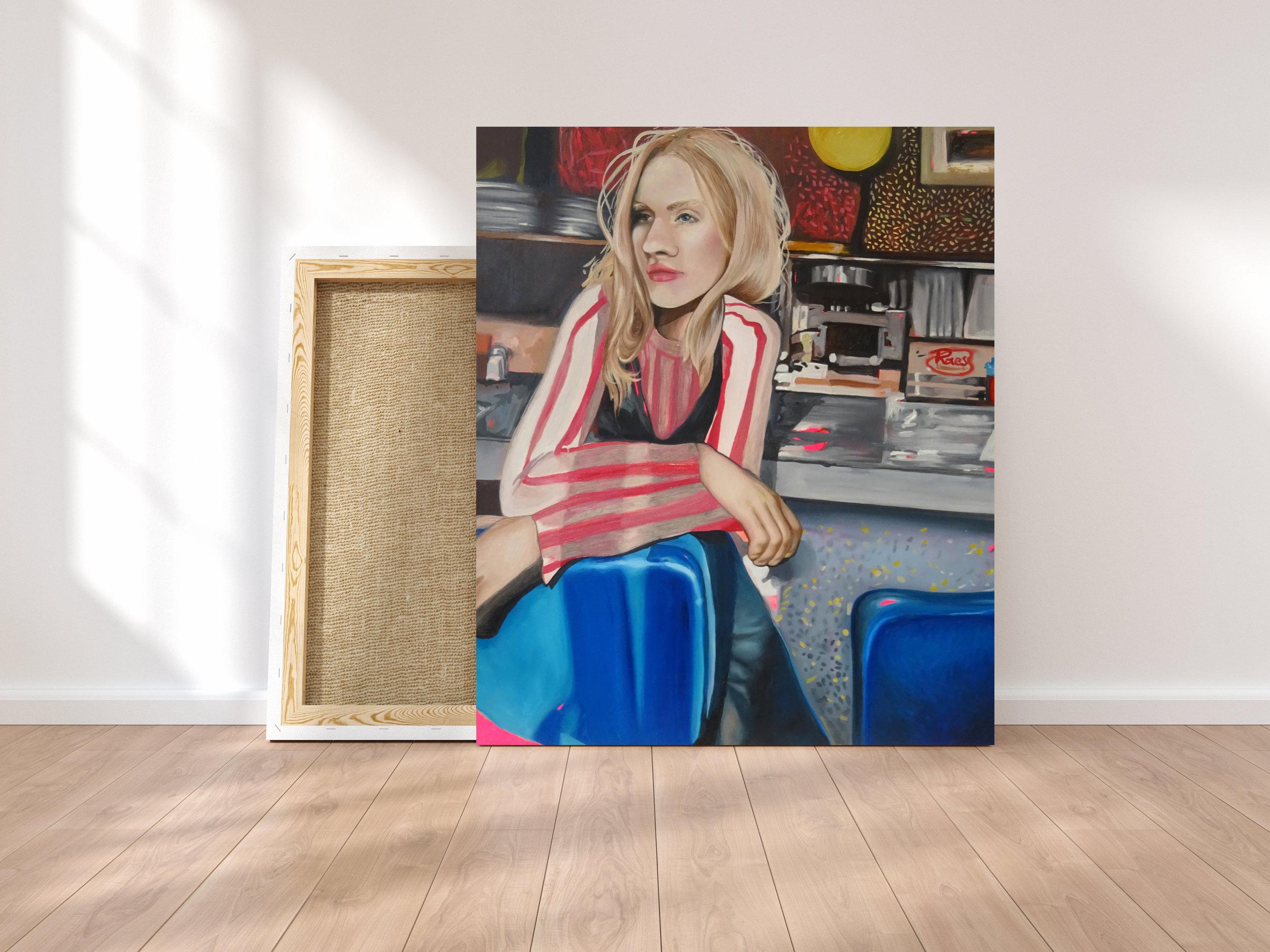 Acrylic & Oil on Wood, 60.5 x 50.5 cm - raspberry rae (2019)