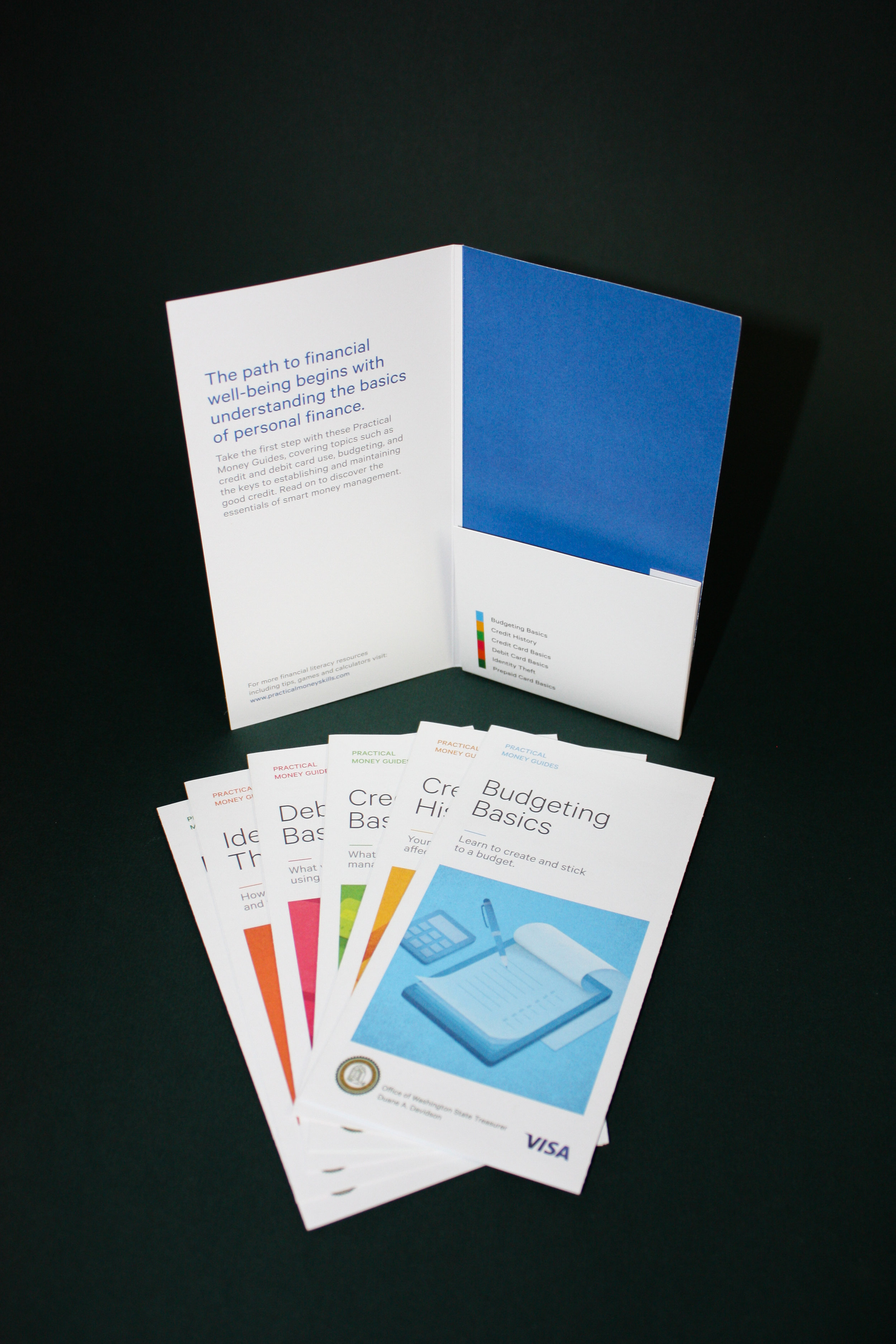 Visa Promotional Folders  Client:  Marin Litho  Converting of folders, collating, inserting, and shipping to multiple destinations throughout the US and Canada.