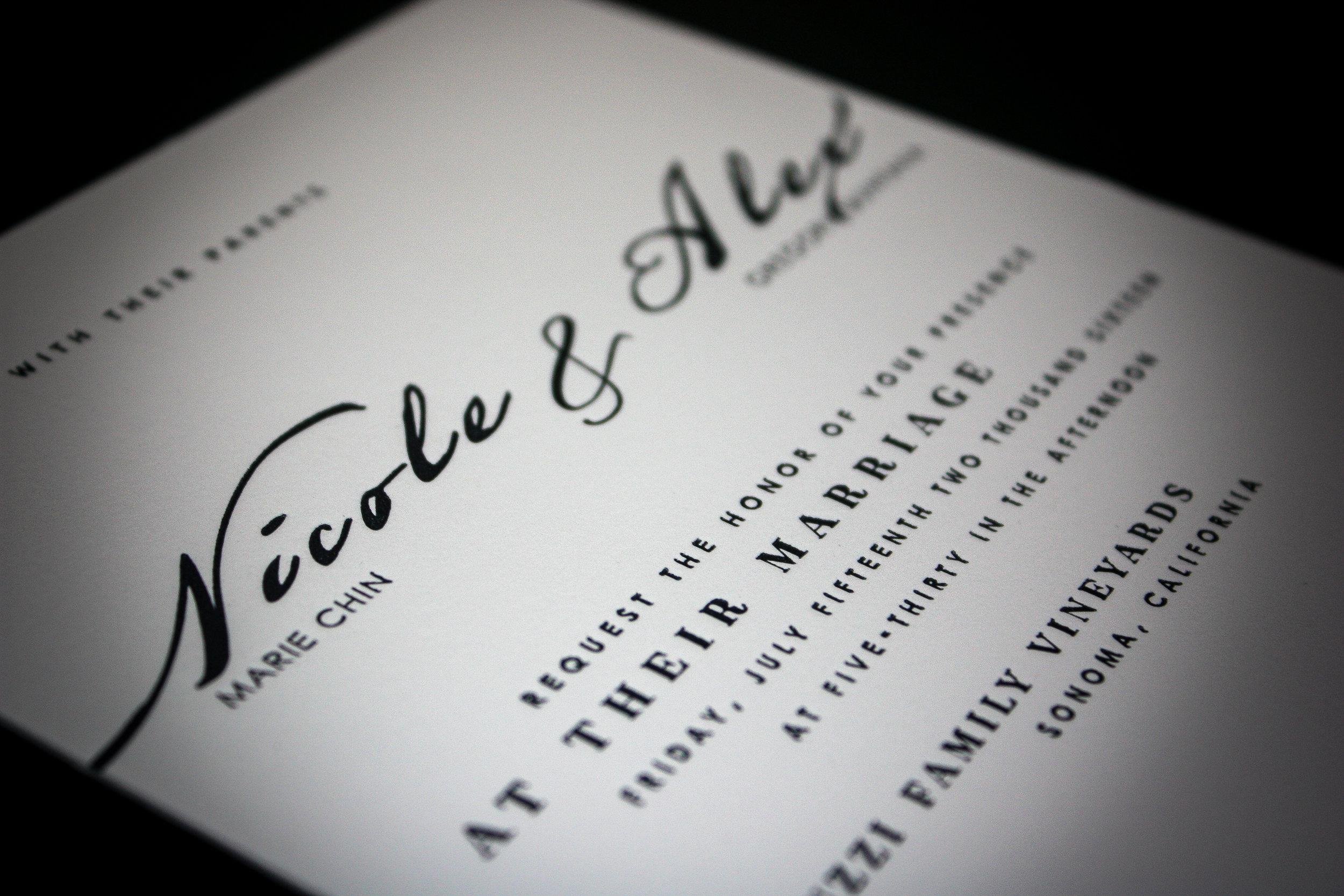 Wedding Invite Client:  Dreammaker Designs  Letterpress printed wedding invitations.