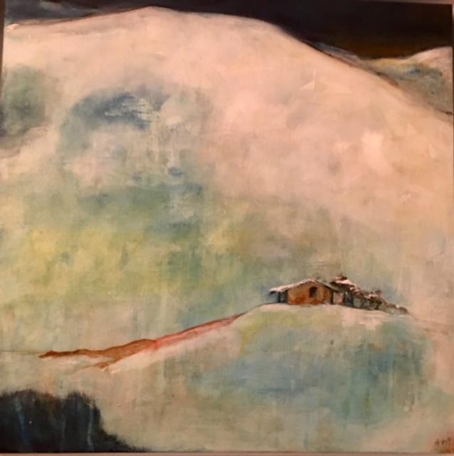 'Snow palace' (50x50cm) acrylic on canvas