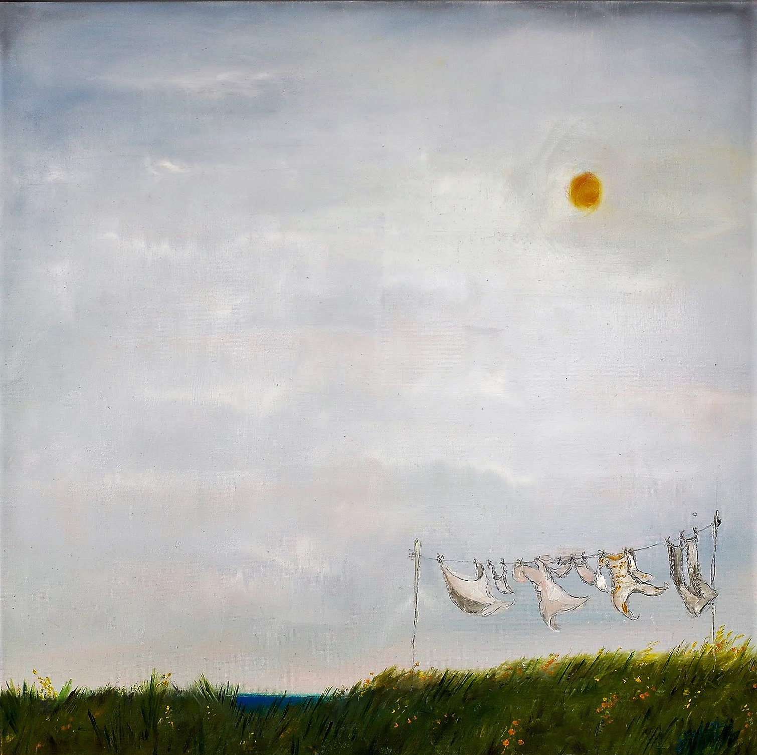 Washing Day (2017) 60x60cm (sold; prints available)