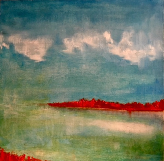 Autumn Lake (50x50cm) SOLD