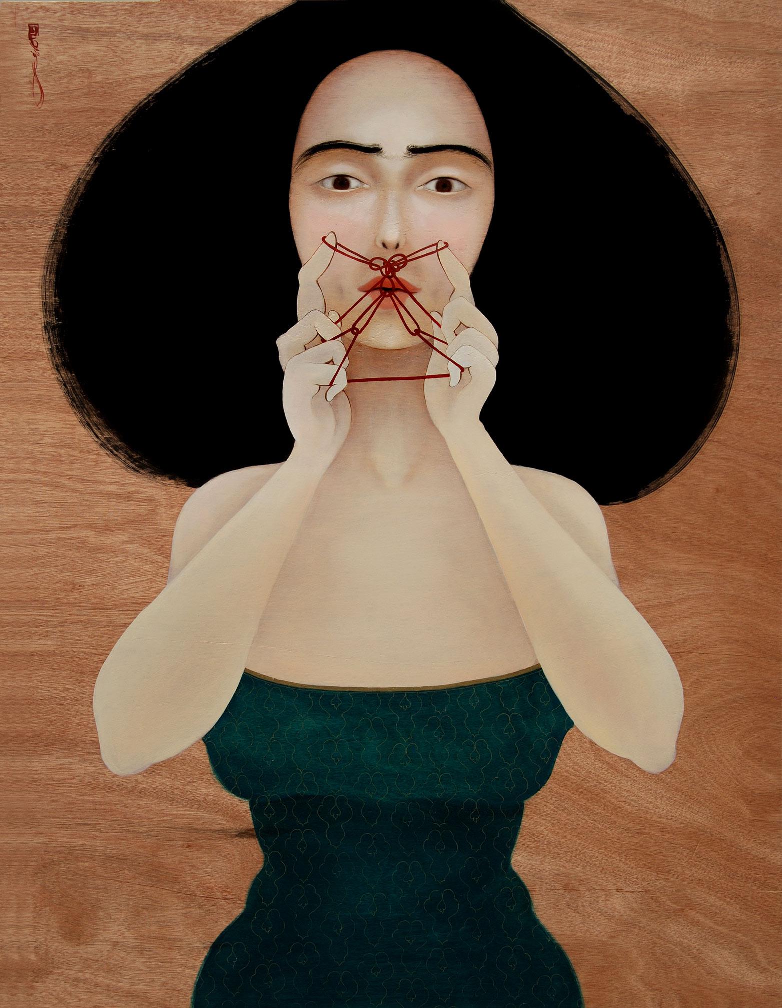 HK_Threading My Mustache_2010_Oil on wooden panel_112x87cm_650.jpg