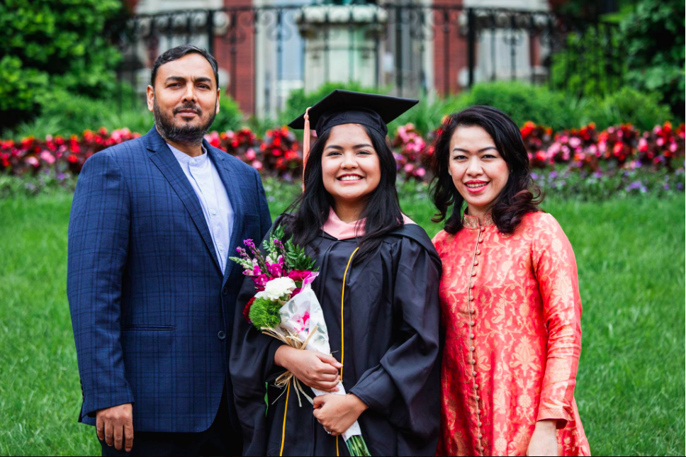 Titu and Wife at their daughters Graduation at Johns Hopkins University -