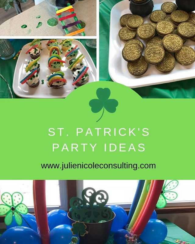 There's more to throwing the perfect St. Patrick's party than simply heading down to the local dollar store or party shop and grabbing everything green or gold!  It helps to understand the history of the holiday and what its traditions are for hosting an excellent party.  If the party is for kids, you will want to give it a leprechaun themed party and for adults a beer or shamrock themed party.  Since I have planned more parties for kids under the age of 5, I am going to list a few of my ideas and past party tips.  Check out my site at www.julienicoleconsulting.com for more info. #stpatricksday #stpattysday #leprechaun #greenhair #greenpower #momandson #toddlermomlife #toddlersnack #toddlermeals #momhacks #partyideas #partyfood #partydesigner #mompreneurlife #mompreneurs #mompreneursinbusiness #mompreneurlife #momprenuer #goldparty #goldpartydecor #goldpartydecor