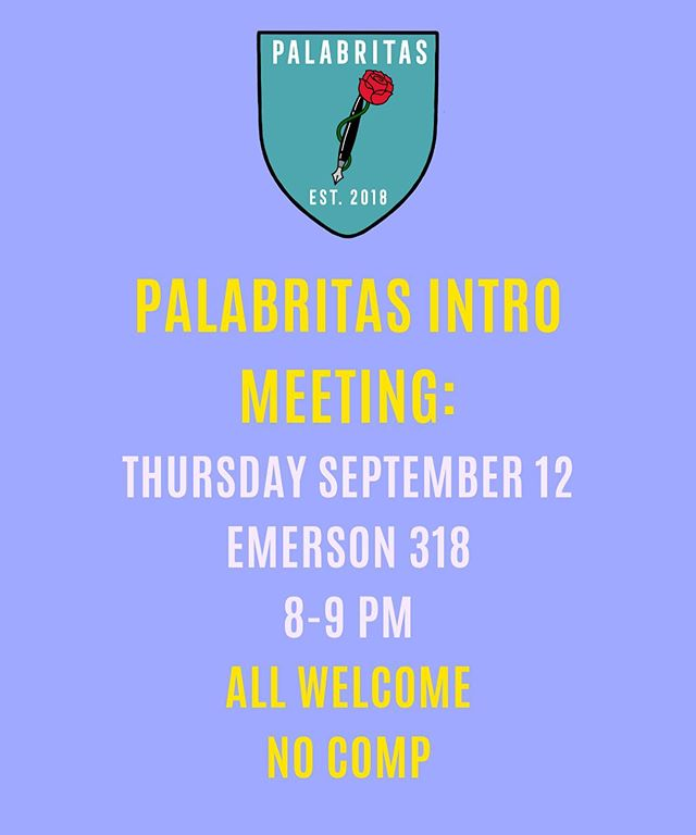@ HARVARD STUDENTS we be having our first intro meeting this Thursday, September 12 at Emerson 318 from 8-9pm.  All identities welcome! No comp and no experience is necessary!