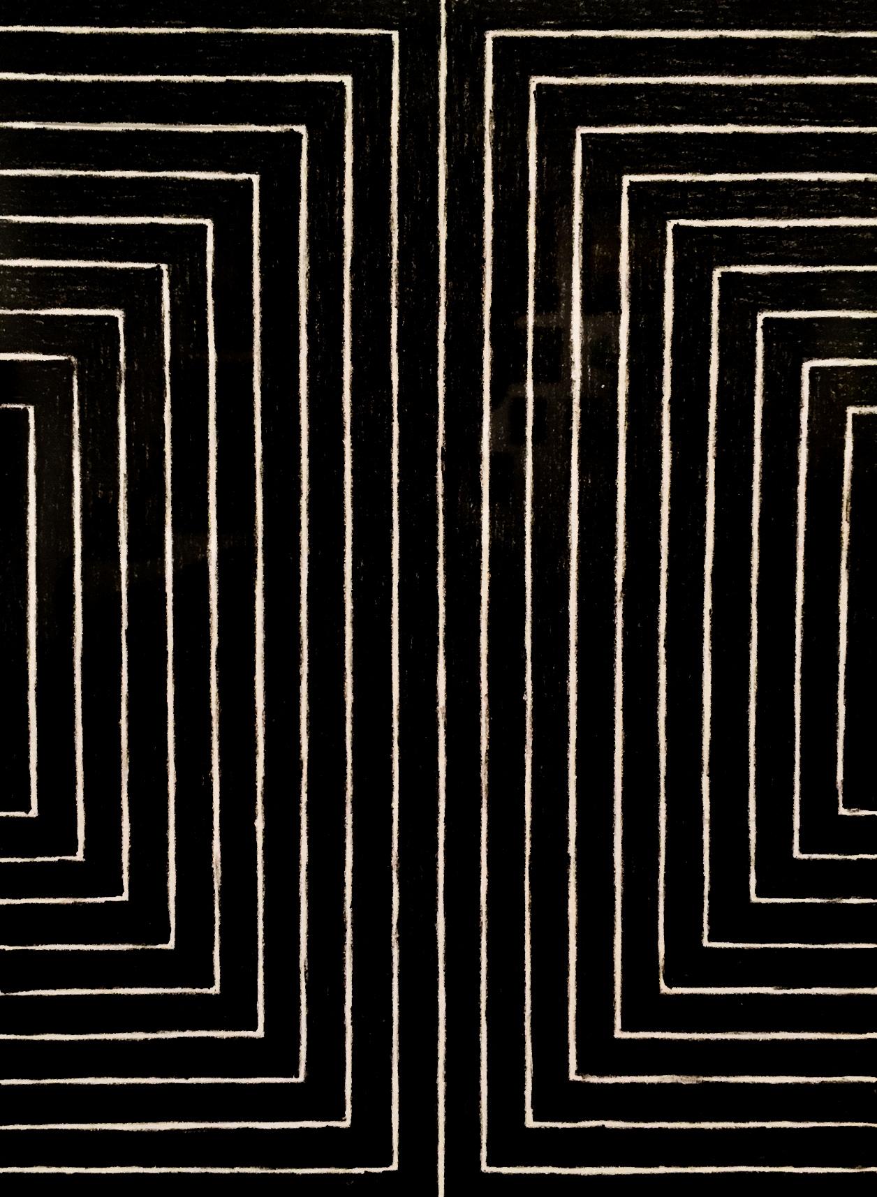 Frank Stella, from Black Series I