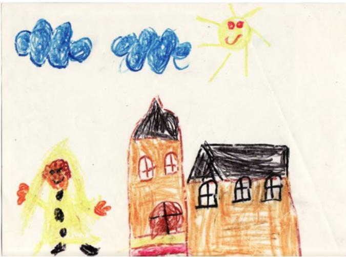 Childhood drawing by Kota Ezawa. Courtesy of the artist.