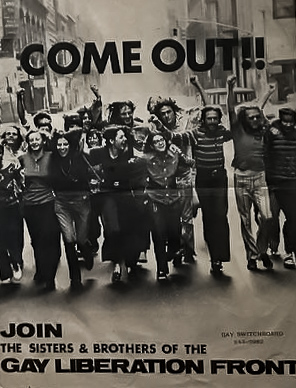 Peter Hujar, Poster for Gay Liberation Front
