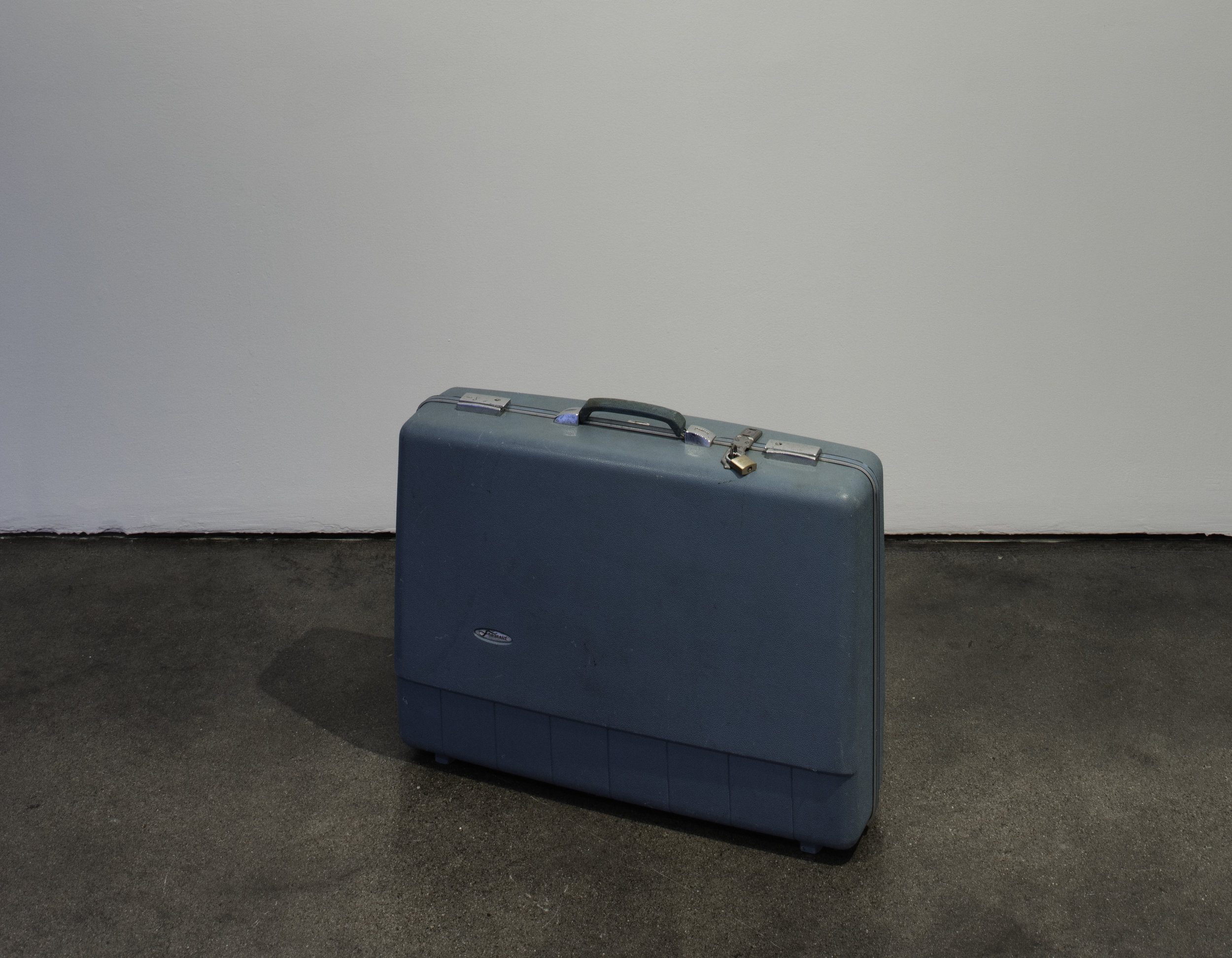 Lara Favaretto,  Lost & Found , 1998, Suitcase, Courtesy Museum of Contemporary Art Santa Barbara. Photo: Brian Forrest