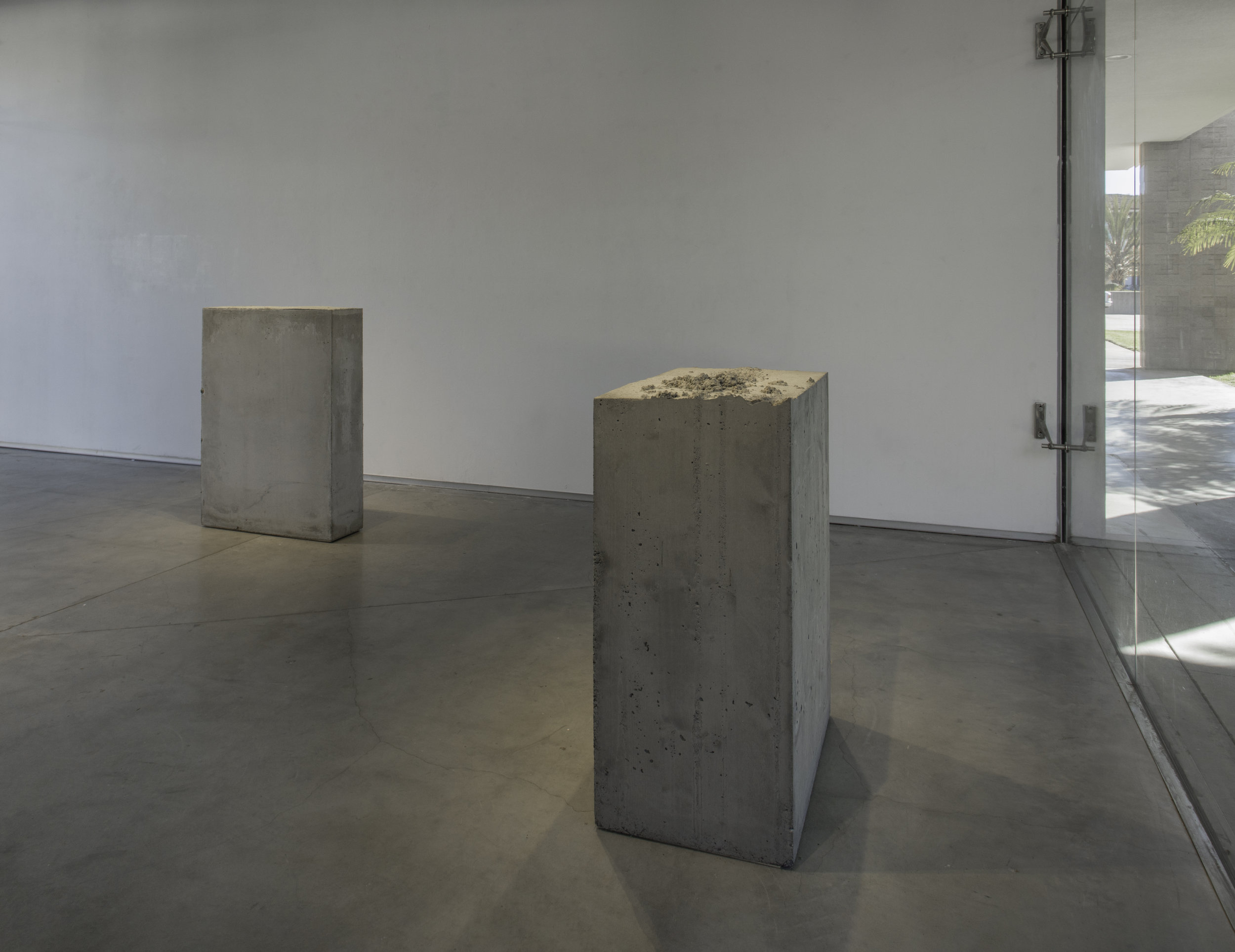 Lara Favaretto,  Fisting  and  Boring , 2012, Concrete, Courtesy Museum of Contemporary Art Santa Barbara. Photo: Brian Forrest