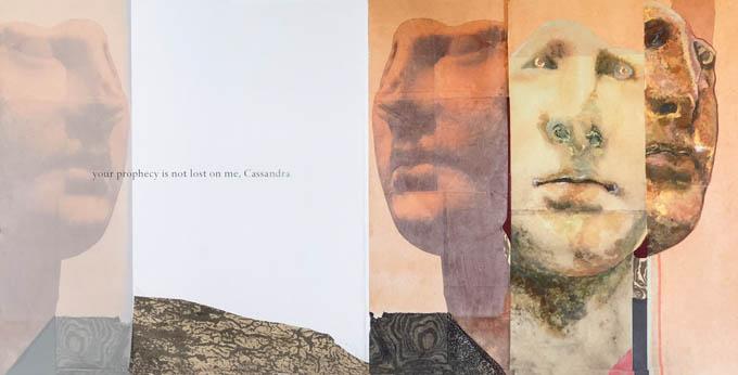 Cassandra ,   Art book, poem by Stephen Kessler and art by Mary Heebner, 2018.
