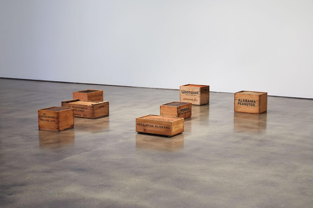 James Benning,  Wooden Boxes , 2019, Dimensions variable, Photo Courtesy Alex Blair © 2019