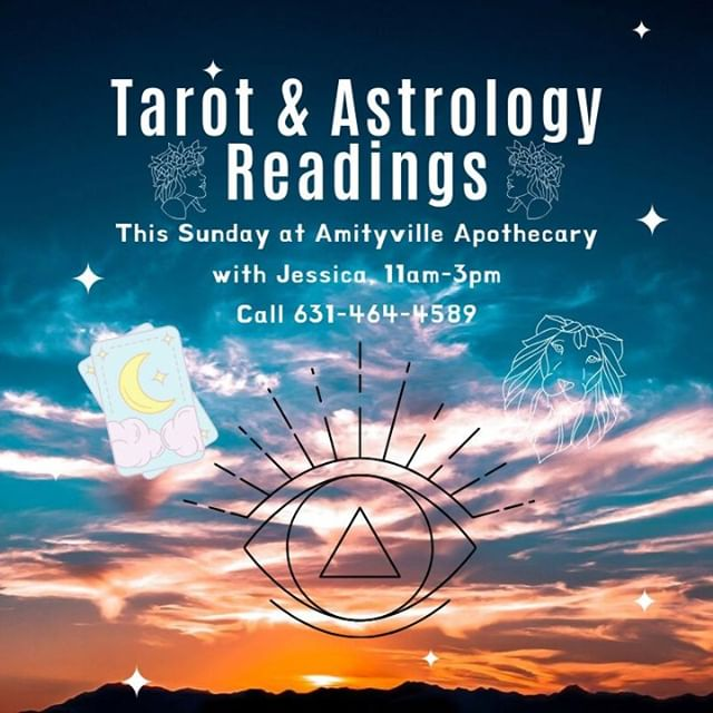 My darlings, I have some availability this Sunday, 9/22 at @amityvilleapothecary . Call 631-464-4589 to reserve your #Tarot or #Astrology session with me. . . #astrologer #astrologersofinstagram #tarotreader #psychic #psychicreading #spiritual #mystical #tarotreading