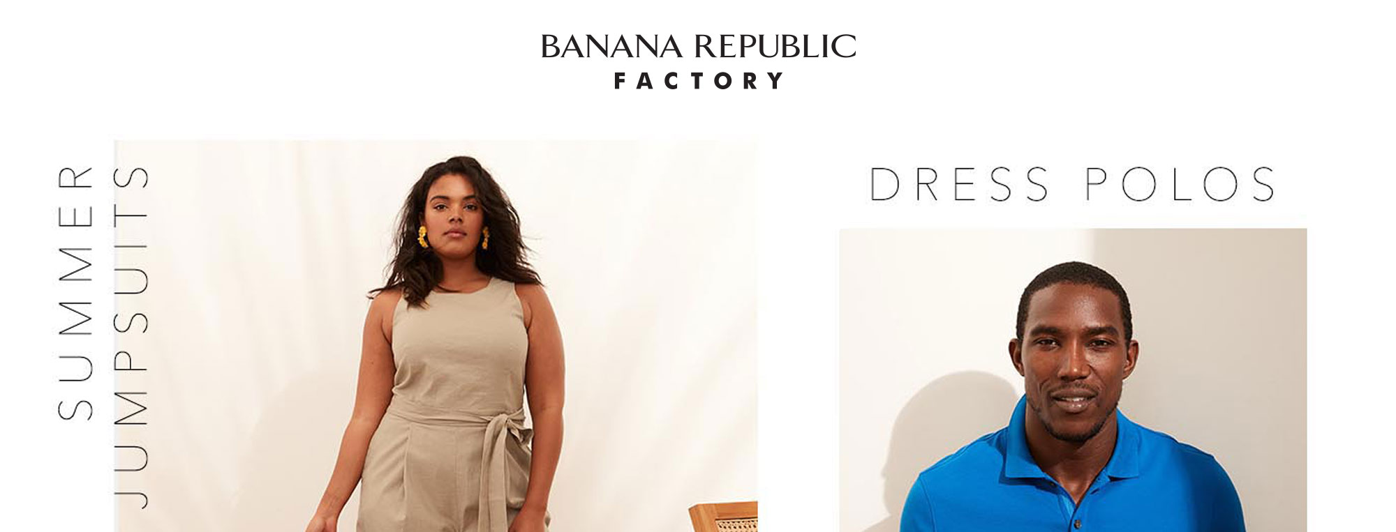 Banana Republic Factory Online: Digital site refreshes and creative marketing