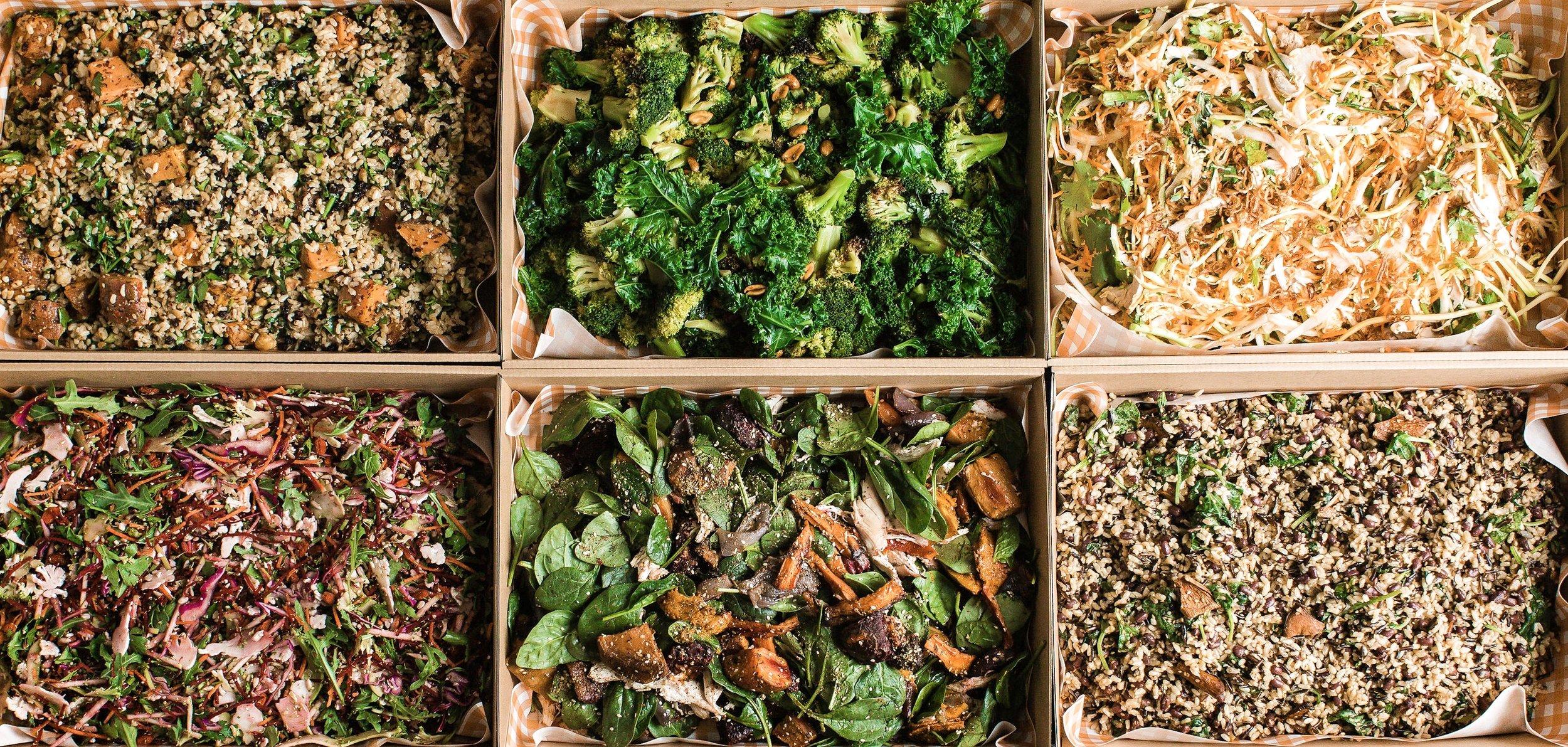 Nutritious salad platters