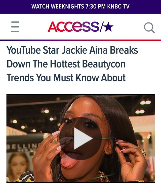 DECEASED! Swipe up through my story to see when @jackieaina dropped by with ACCESS!