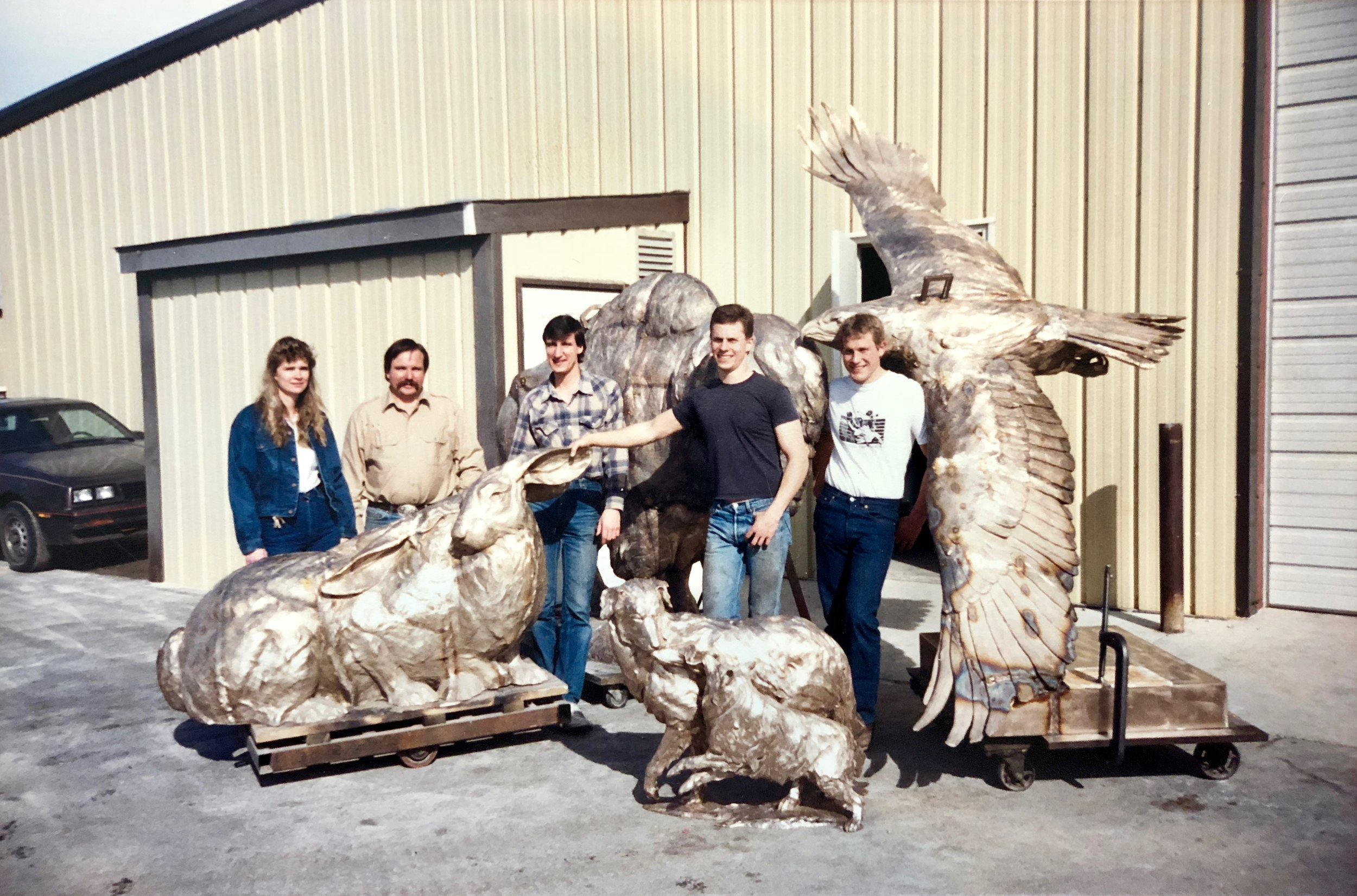 The Crew at Ostermiller Studios, circa 1987.