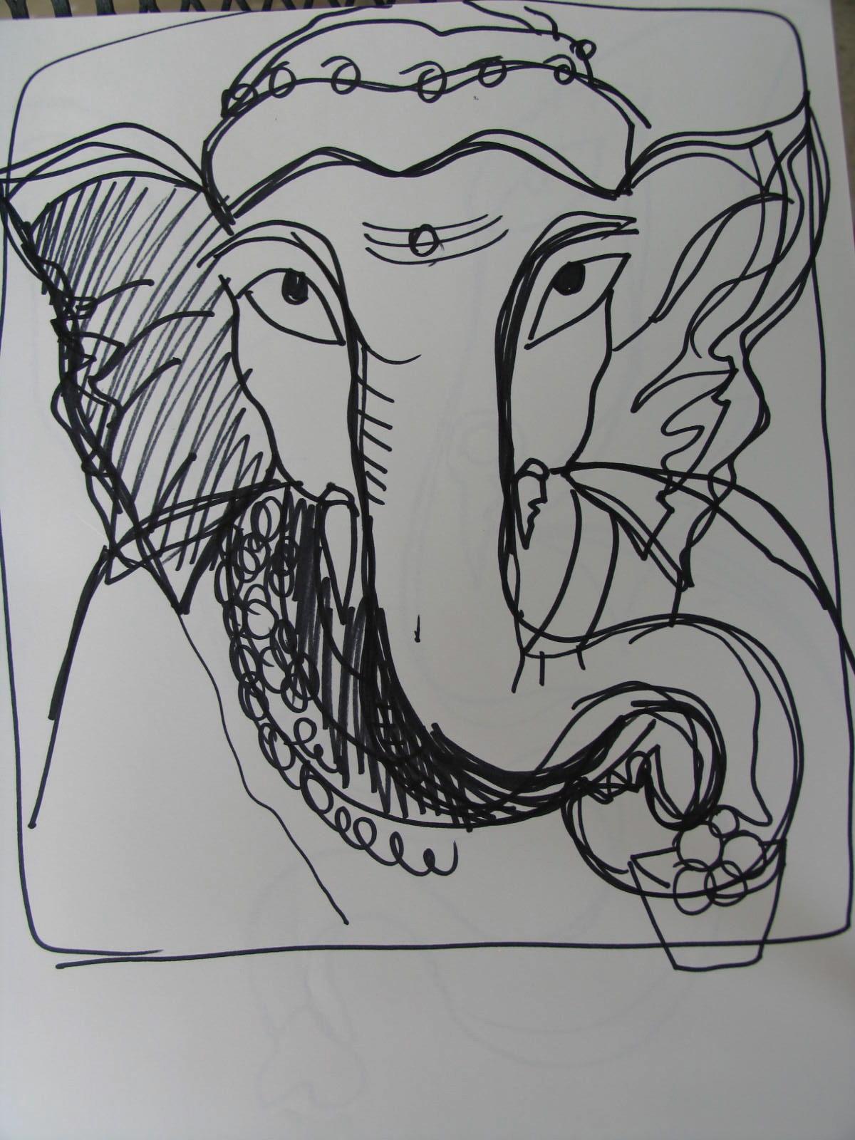 Sri Ganesha Sketch