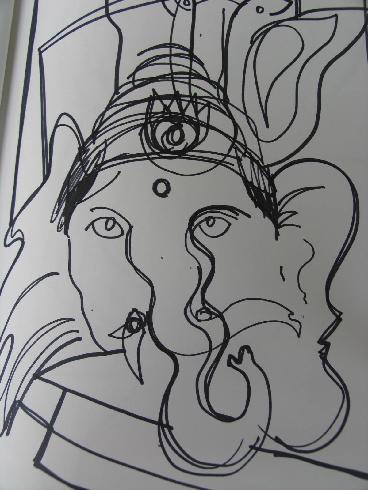 Sri Ganeshji Drawing 3