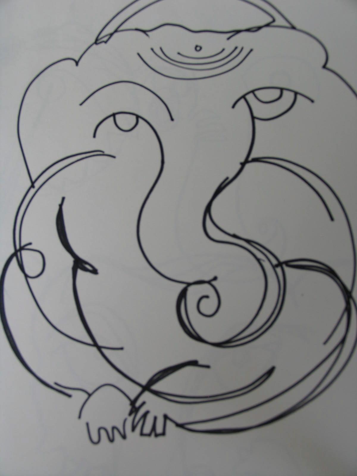 Sri Ganeshji Drawing 4