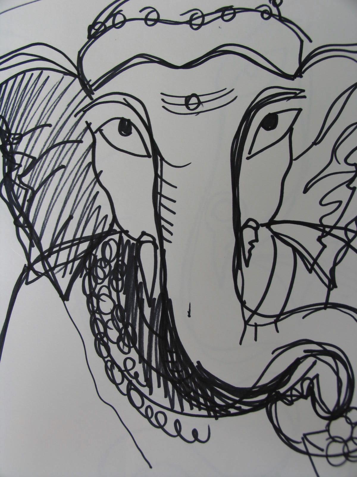 Sri Ganeshji Sketch 6